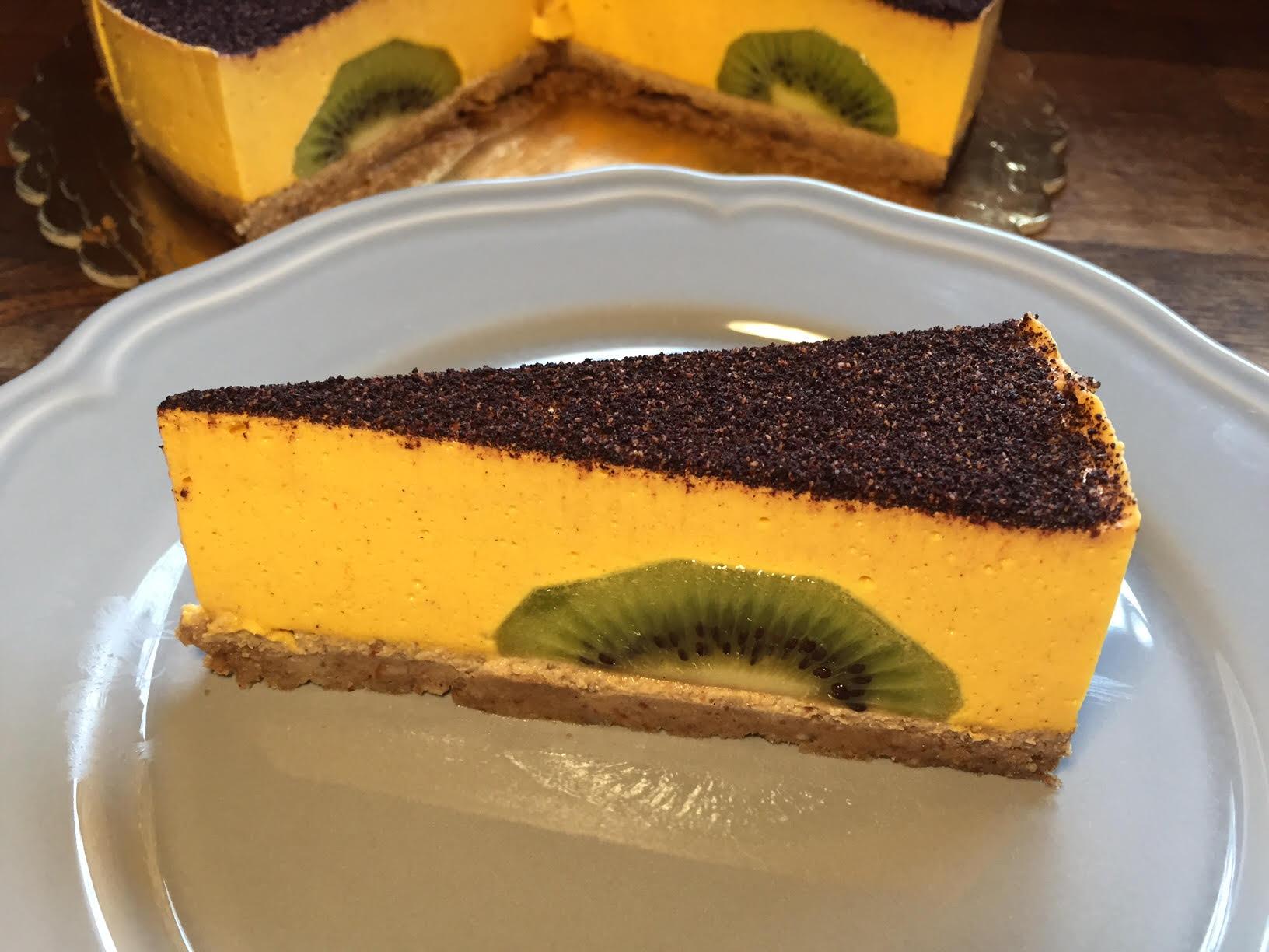 raw kaki torta